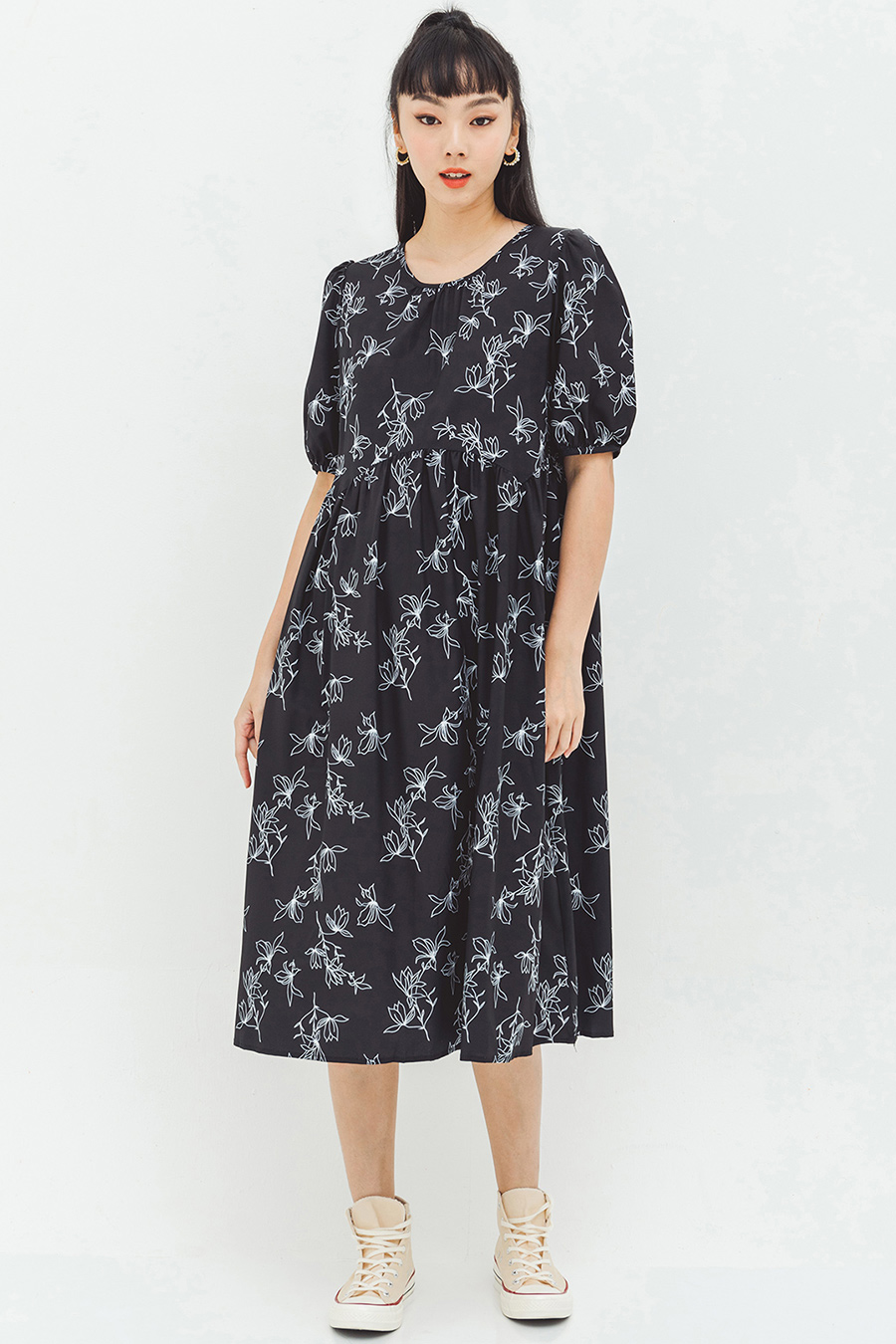 ANDREE DRESS - NOIR FLEUR