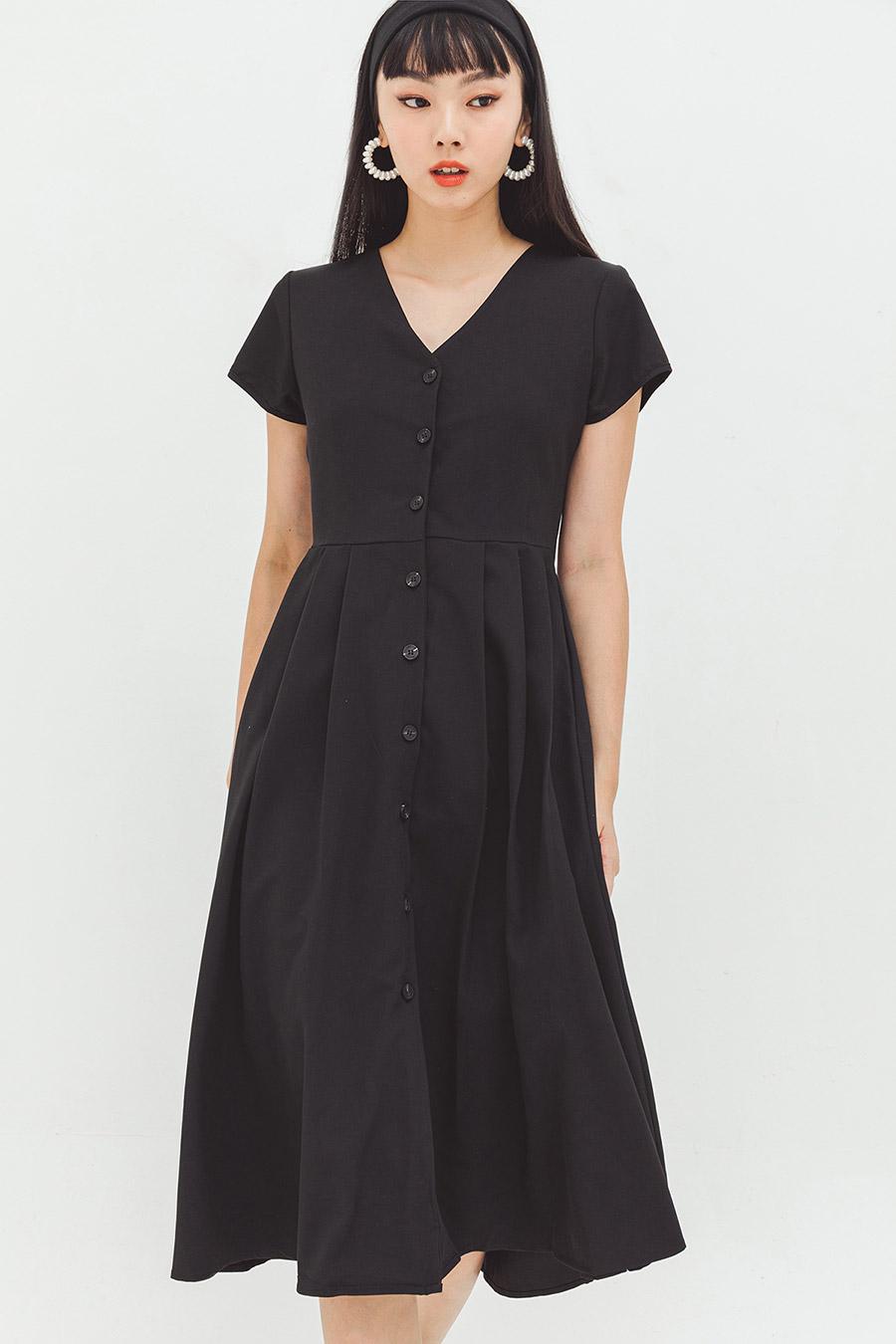 BEAULENE DRESS - NOIR