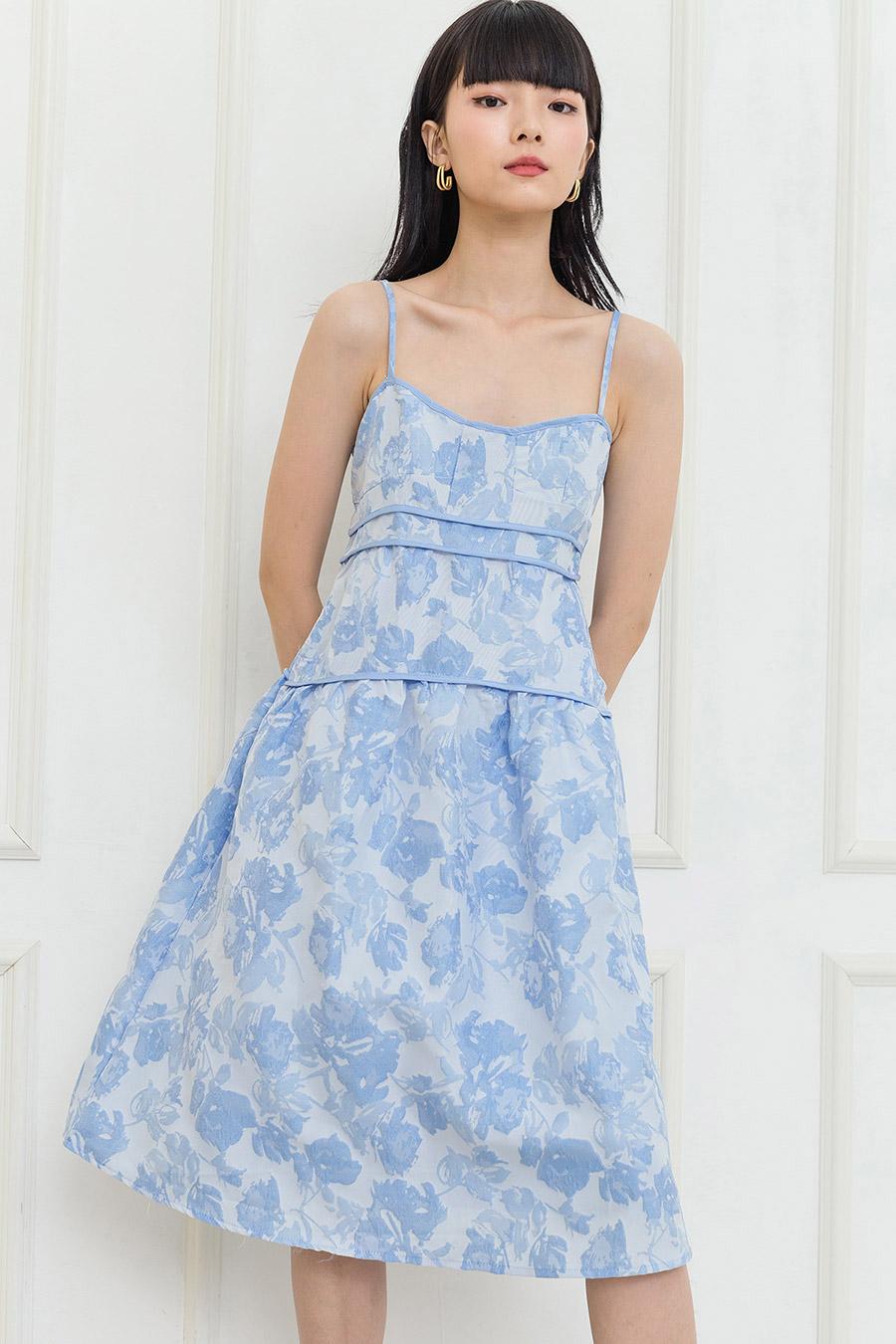 BETH DRESS - LAGOON FLEUR