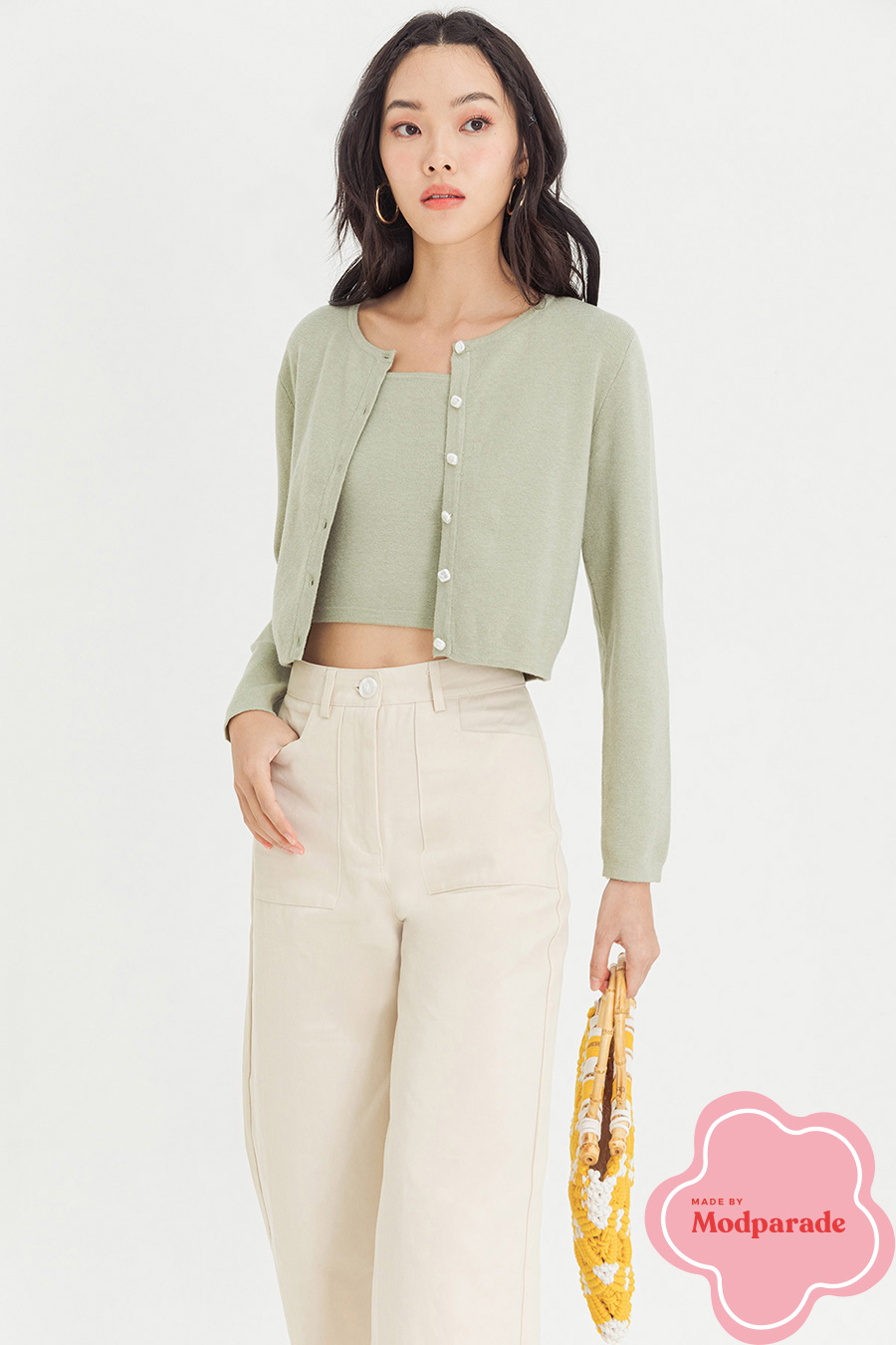BLAQUE CARDIGAN - PEAR FIZZ [BY MODPARADE]