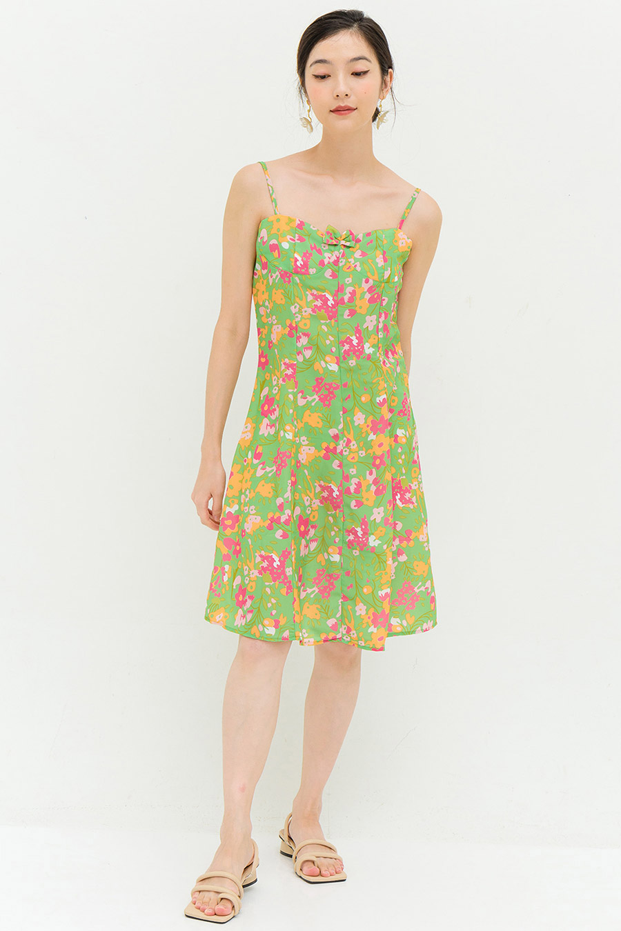 *SALE* CARTER DRESS - PINE FLEUR
