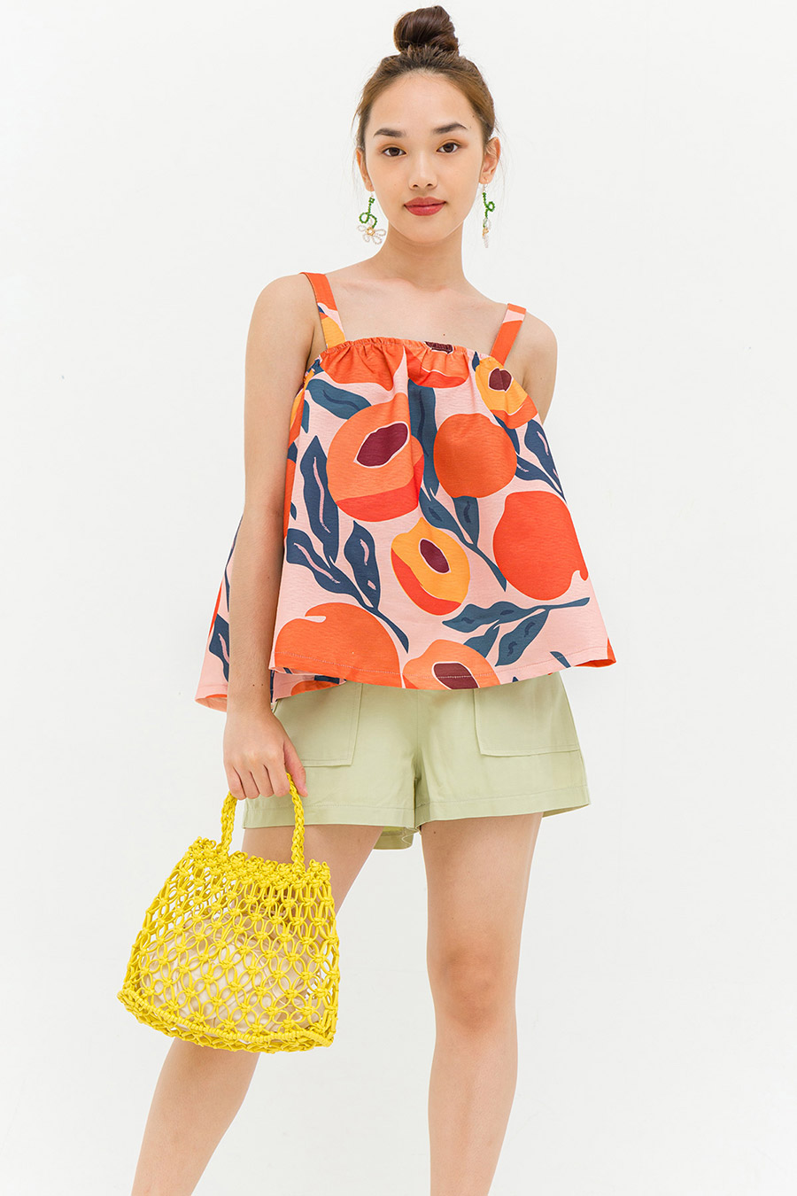 *RESTOCKED* COURTNEY TOP - PEACHES [BY MODPARADE]