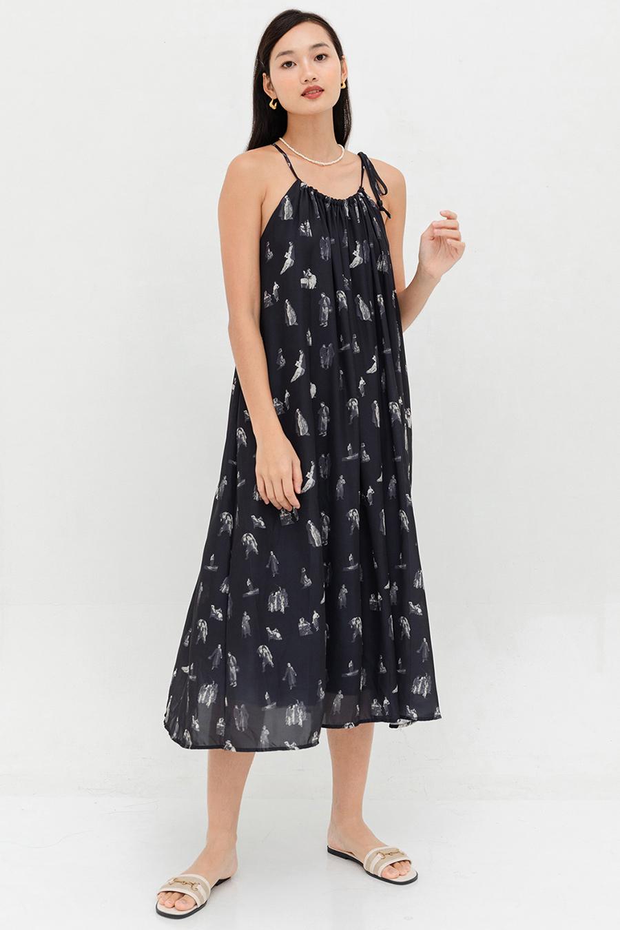 EDITH DRESS - NOIR