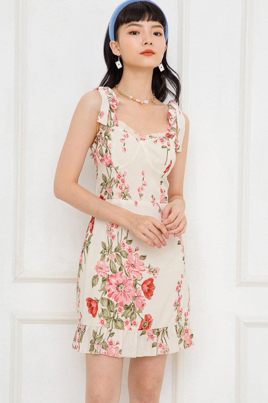 ELOI DRESS - IVORY FLEUR