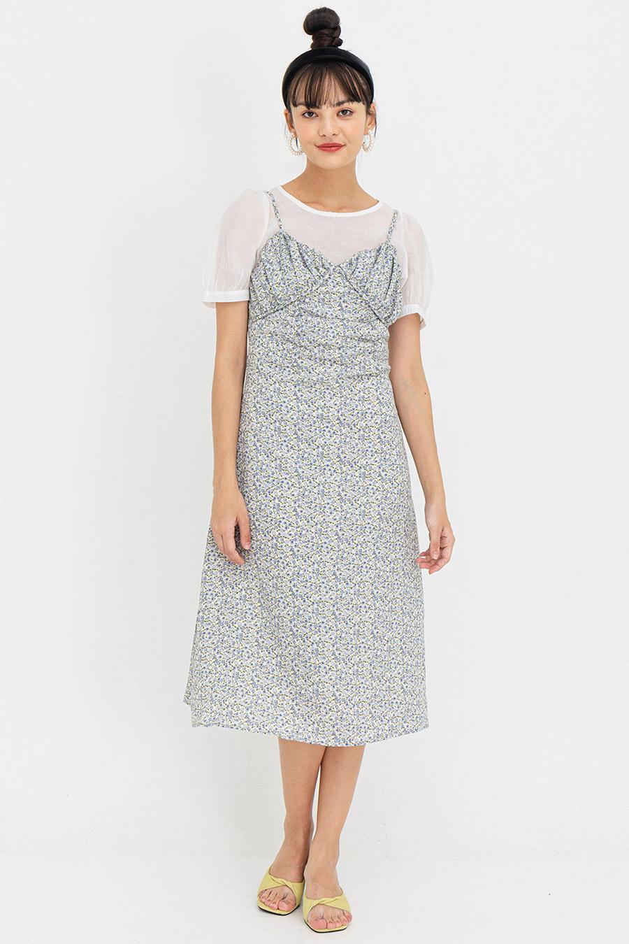 EVITA SET DRESS - BLEU FLEUR