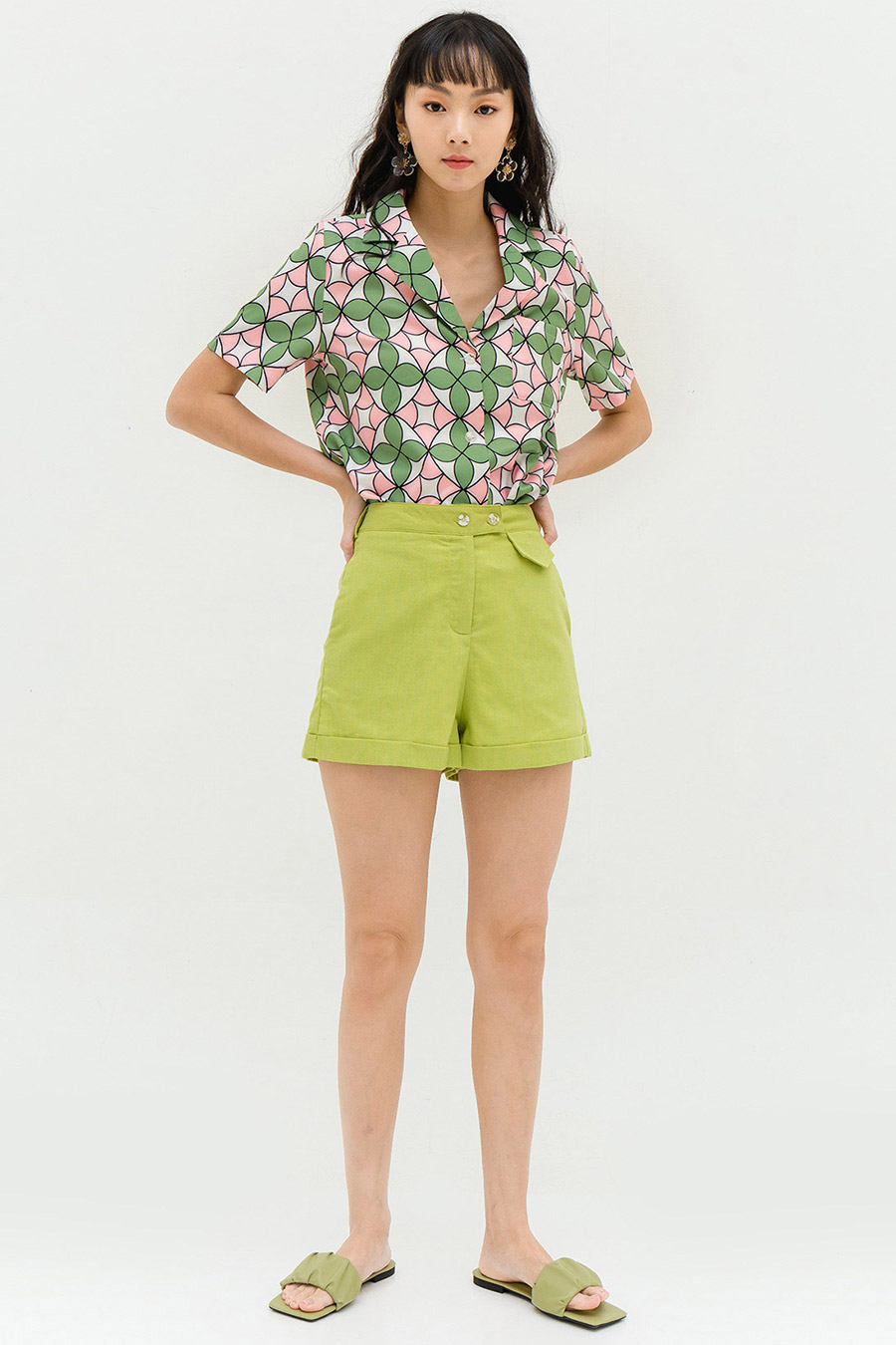 *RESTOCKED* FULTON SHORTS - PARK GREEN [BY MODPARADE]