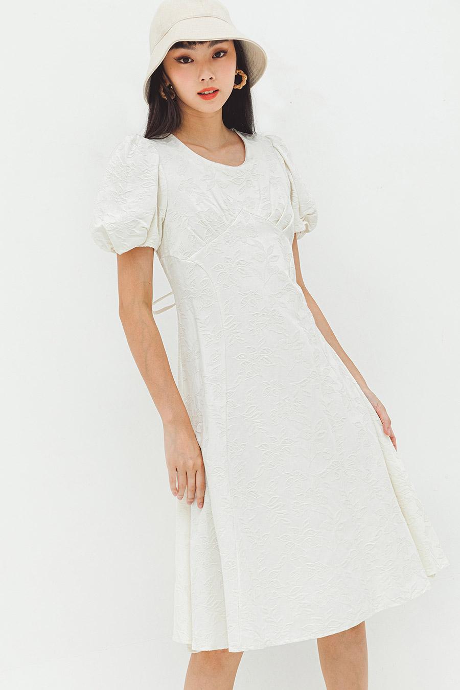 GWENITH DRESS - IVORY FLEUR