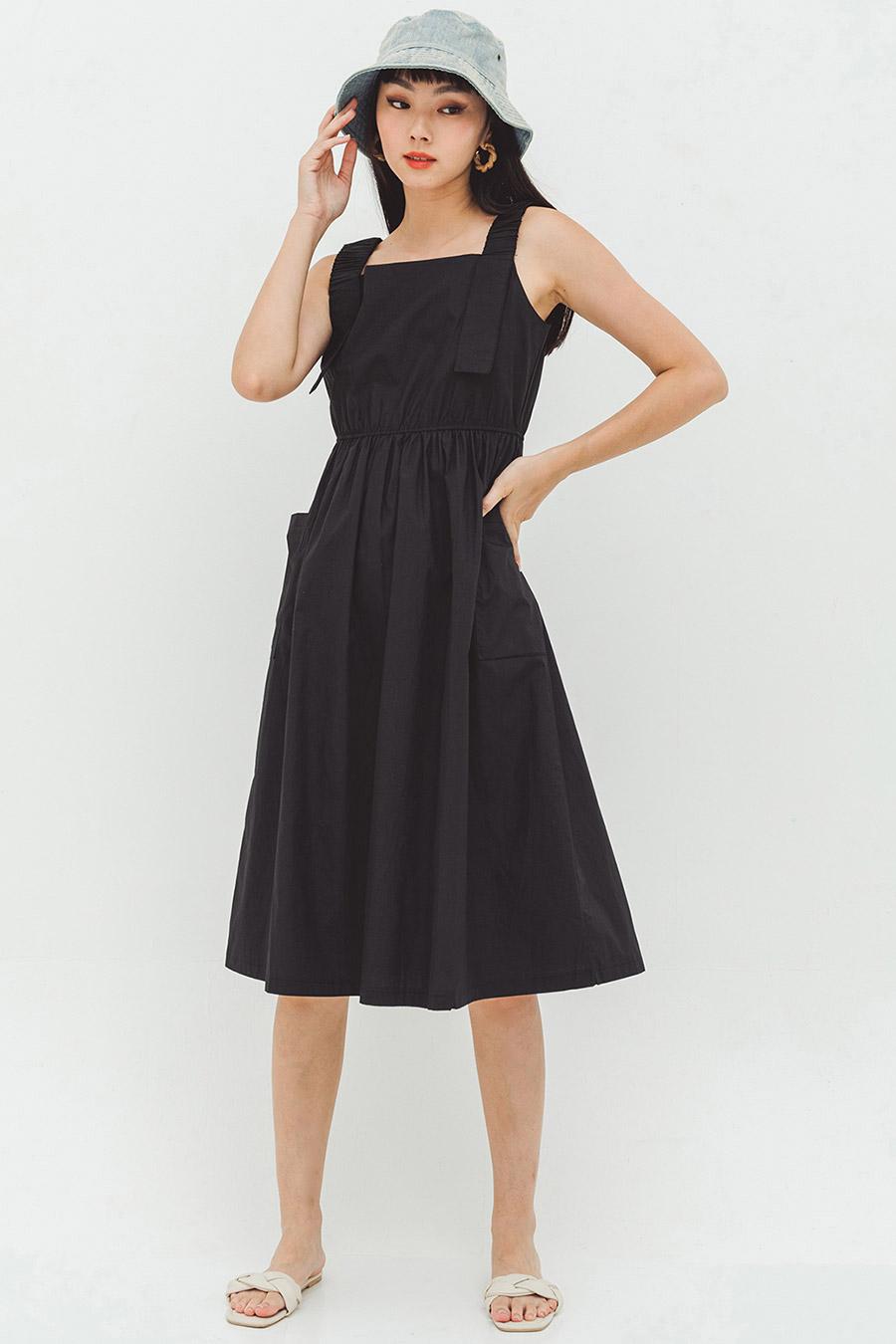 HEFINA DRESS - NOIR