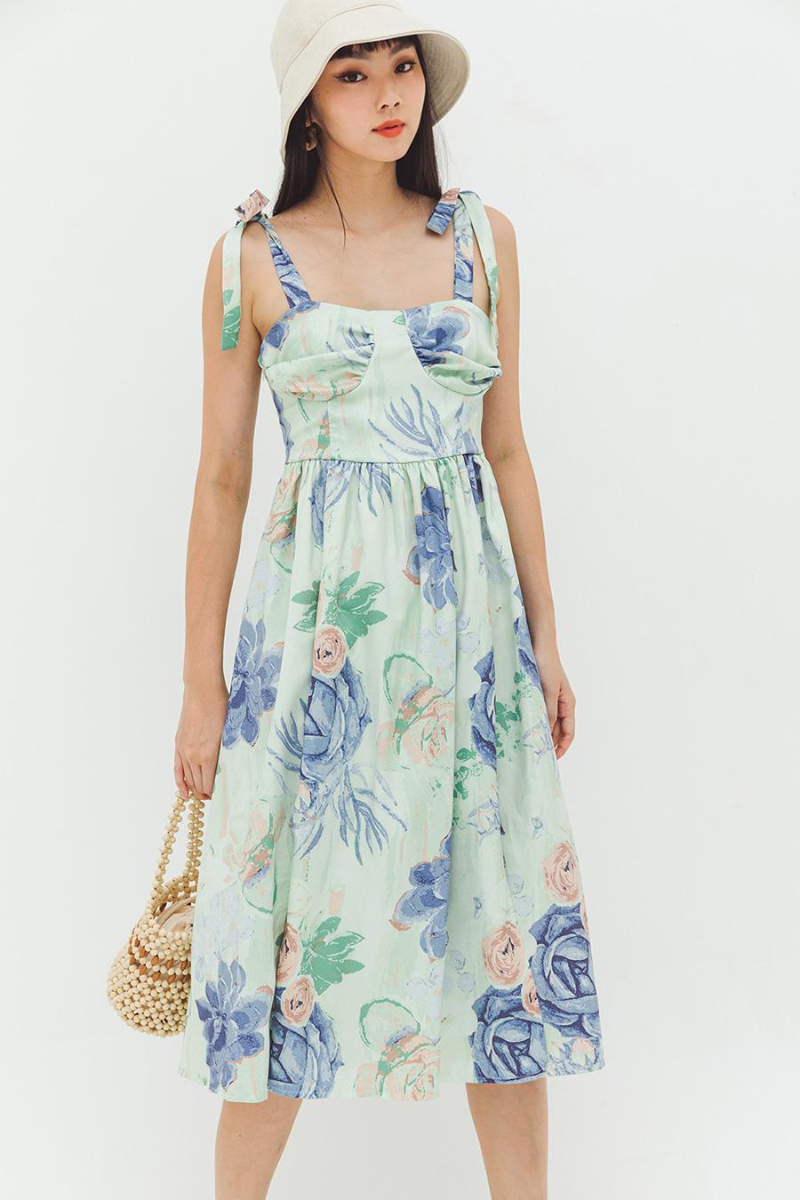 JEANNIN DRESS - MINT FLEUR