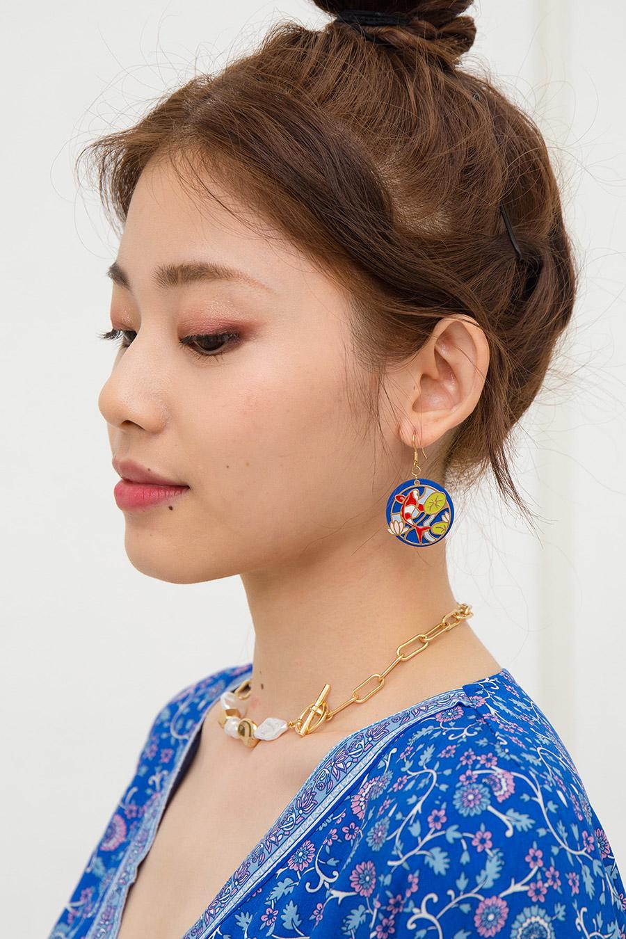 KOI POND EARRING - BLUE GREEN
