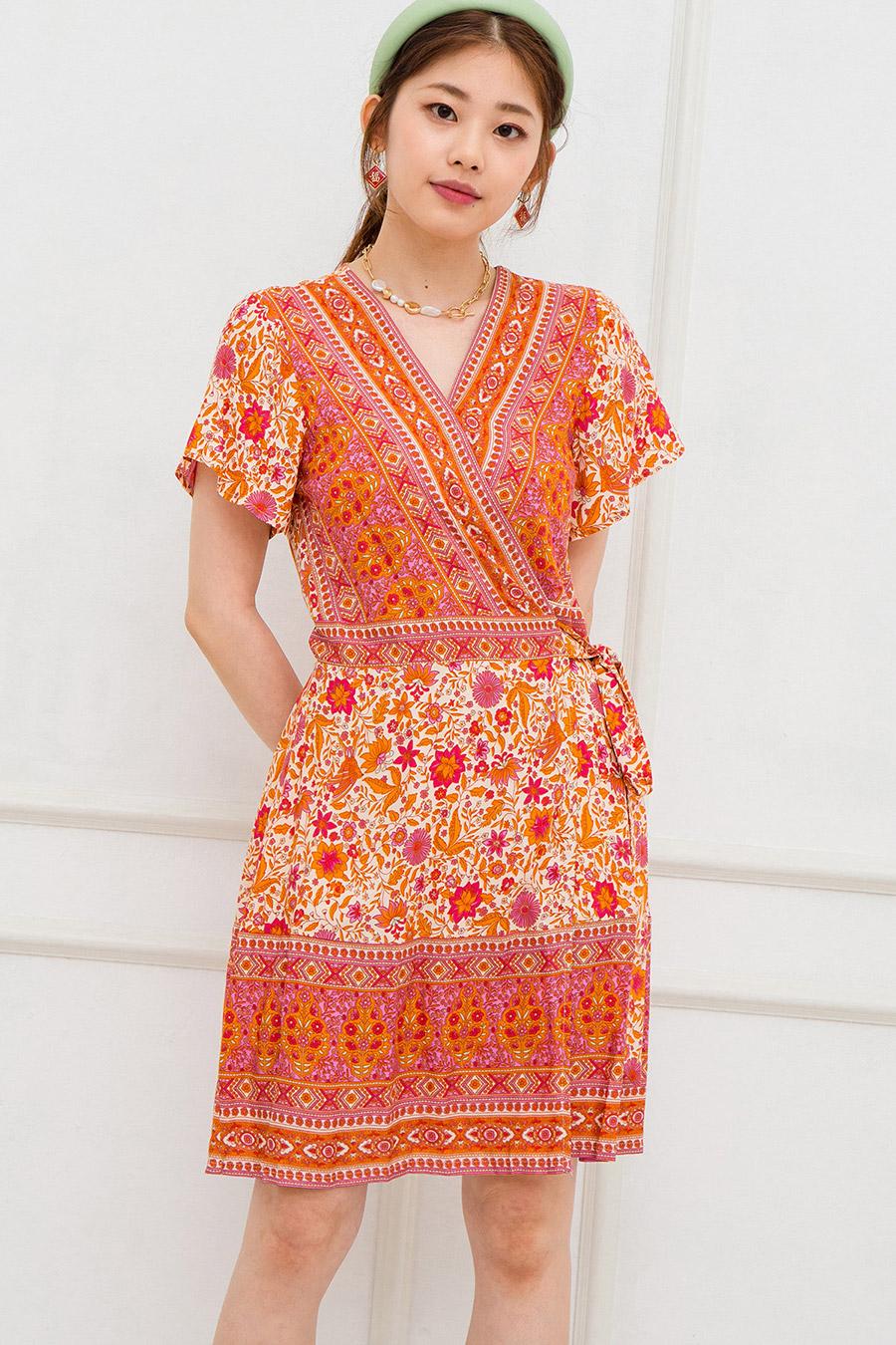 LALLE DRESS - SAFFRON FLEUR