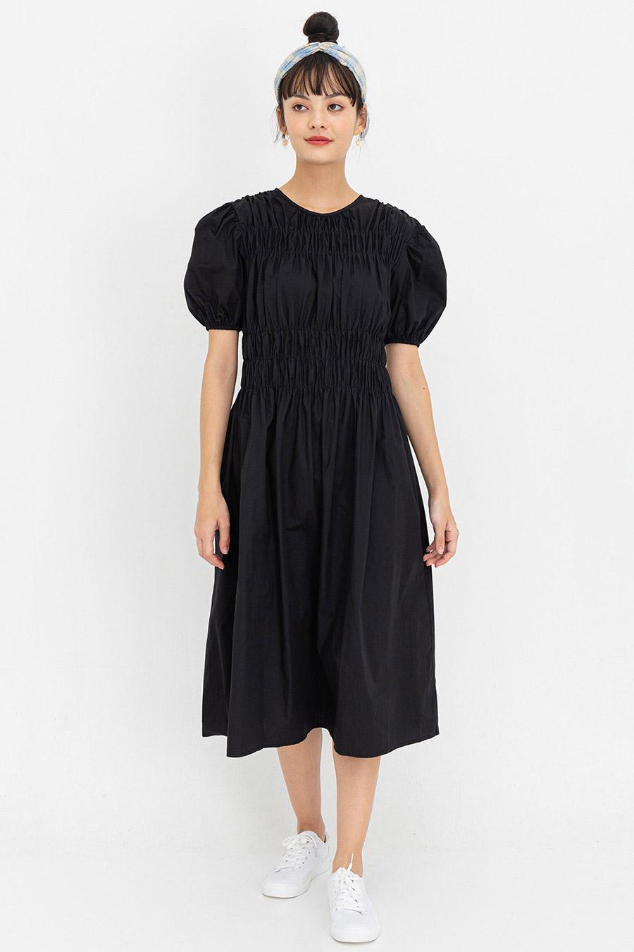 LILLIBETH DRESS - NOIR