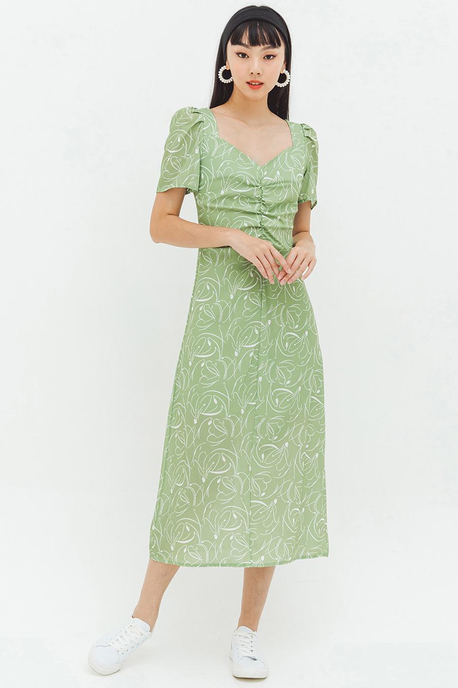 NIMUE DRESS - BONSAI FLEUR