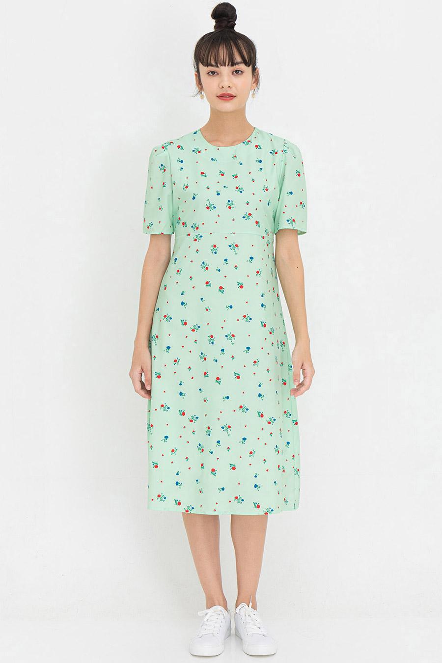 NORRA DRESS - SAGE FLEUR