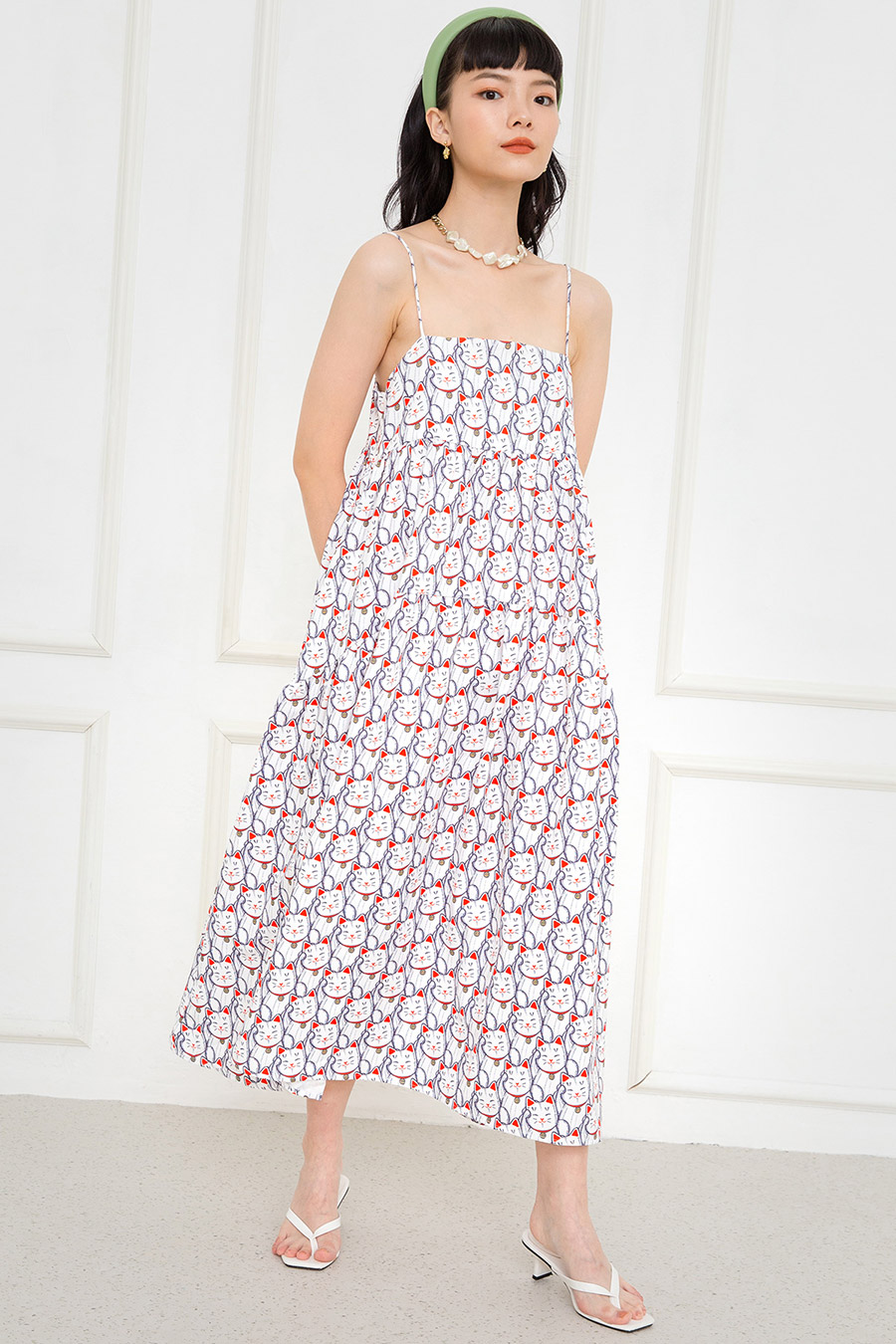 *RESTOCKED* OLIVIA DRESS - MANEKI NEKO [BY MODPARADE]