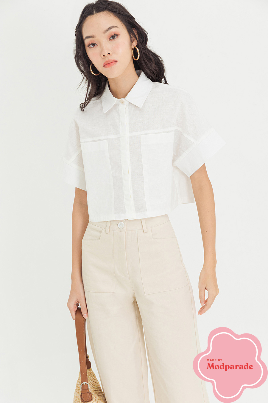 PECHA TOP - IVORY [BY MODPARADE]