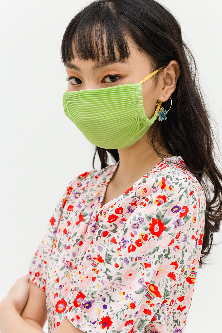 *RESTOCKED* PLEATED MASK - CYPRESS [BY MODPARADE]