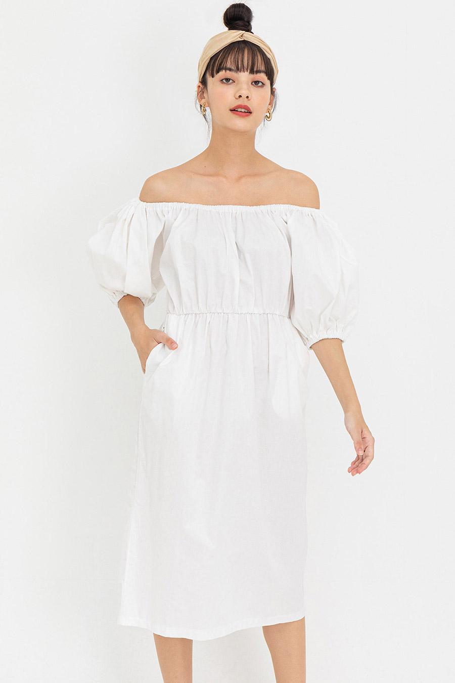 RENEE DRESS - IVORY