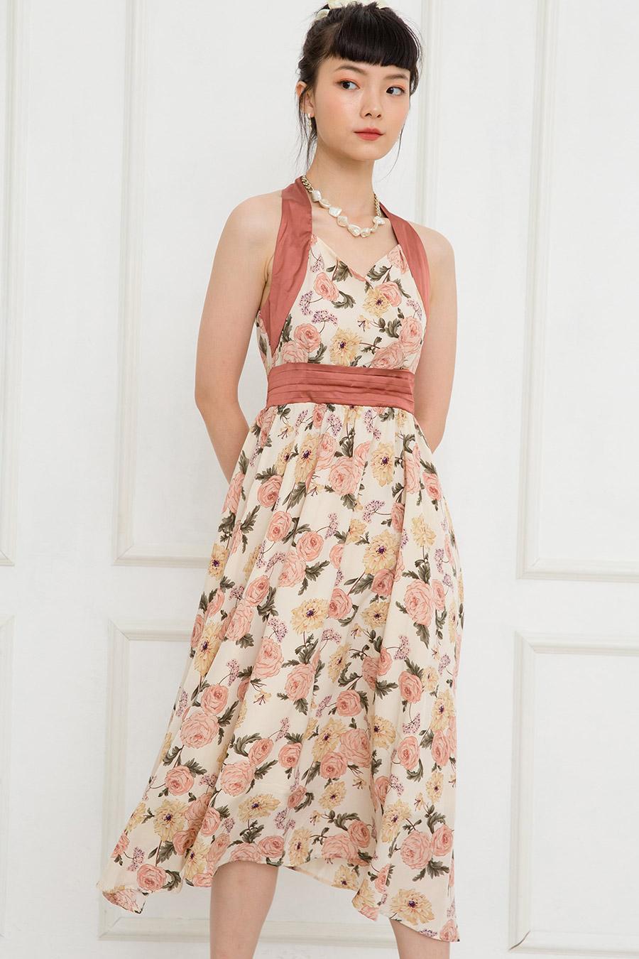 ROSEFIELD DRESS - CREME FLEUR