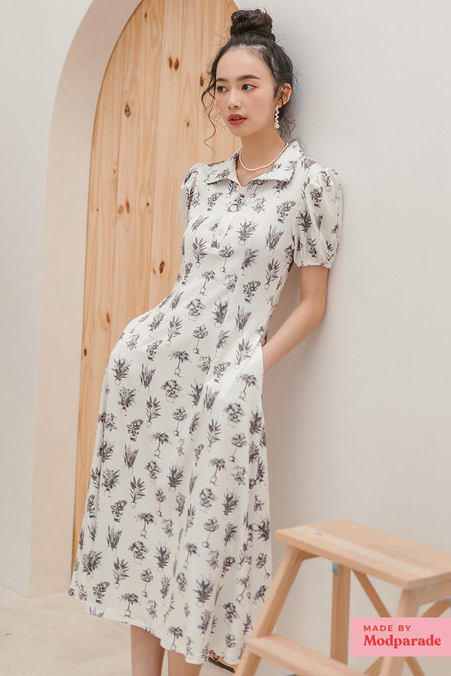 SKYLAR DRESS - SAND BOTANY [BY MODPARADE]