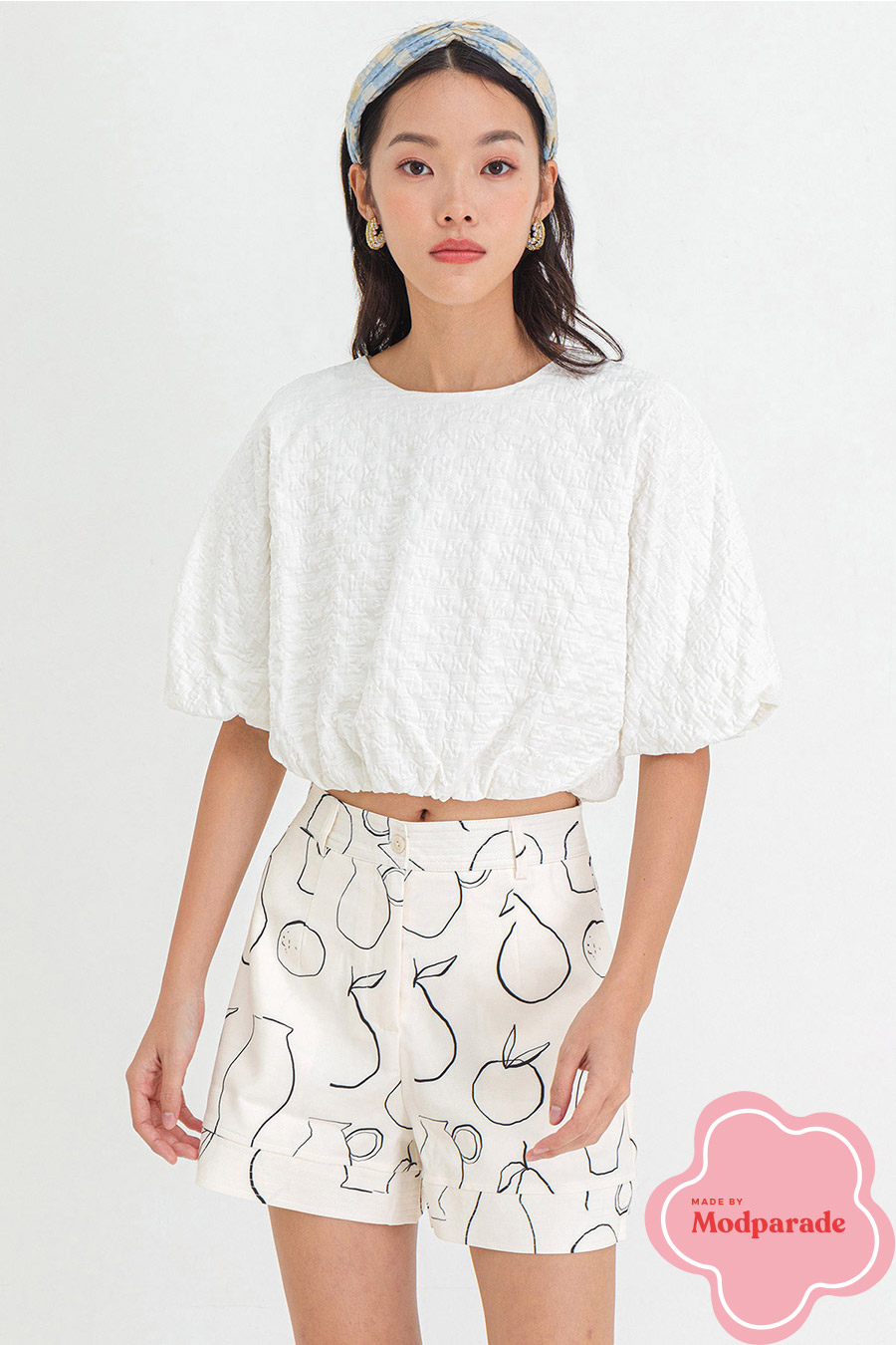 KESSIE TOP - IVORY [BY MODPARADE]