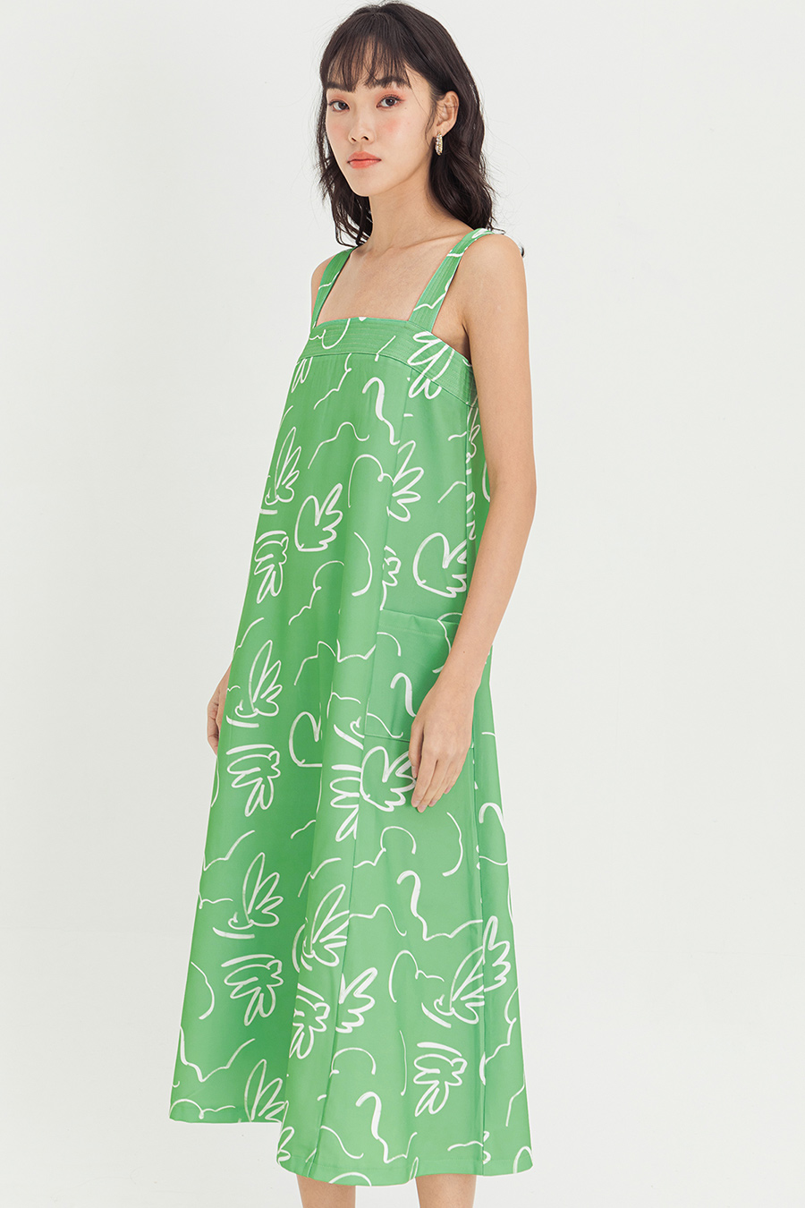 VALLEE DRESS - BOURBON GREEN [BY MODPARADE]