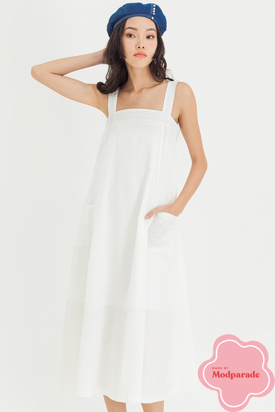 VALLEE DRESS - IVORY [BY MODPARADE]