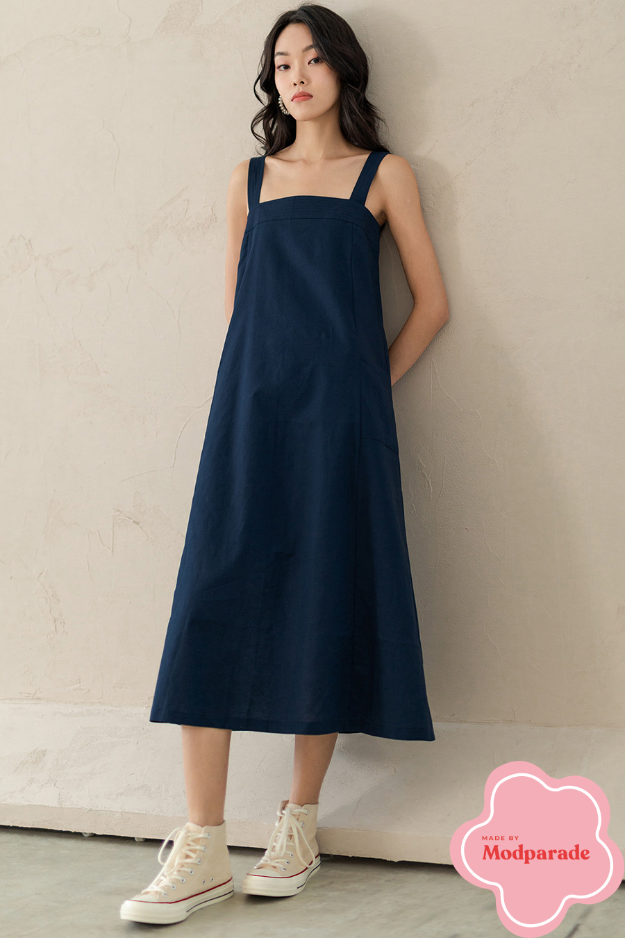 VALLEE DRESS - NAVY [BY MODPARADE]