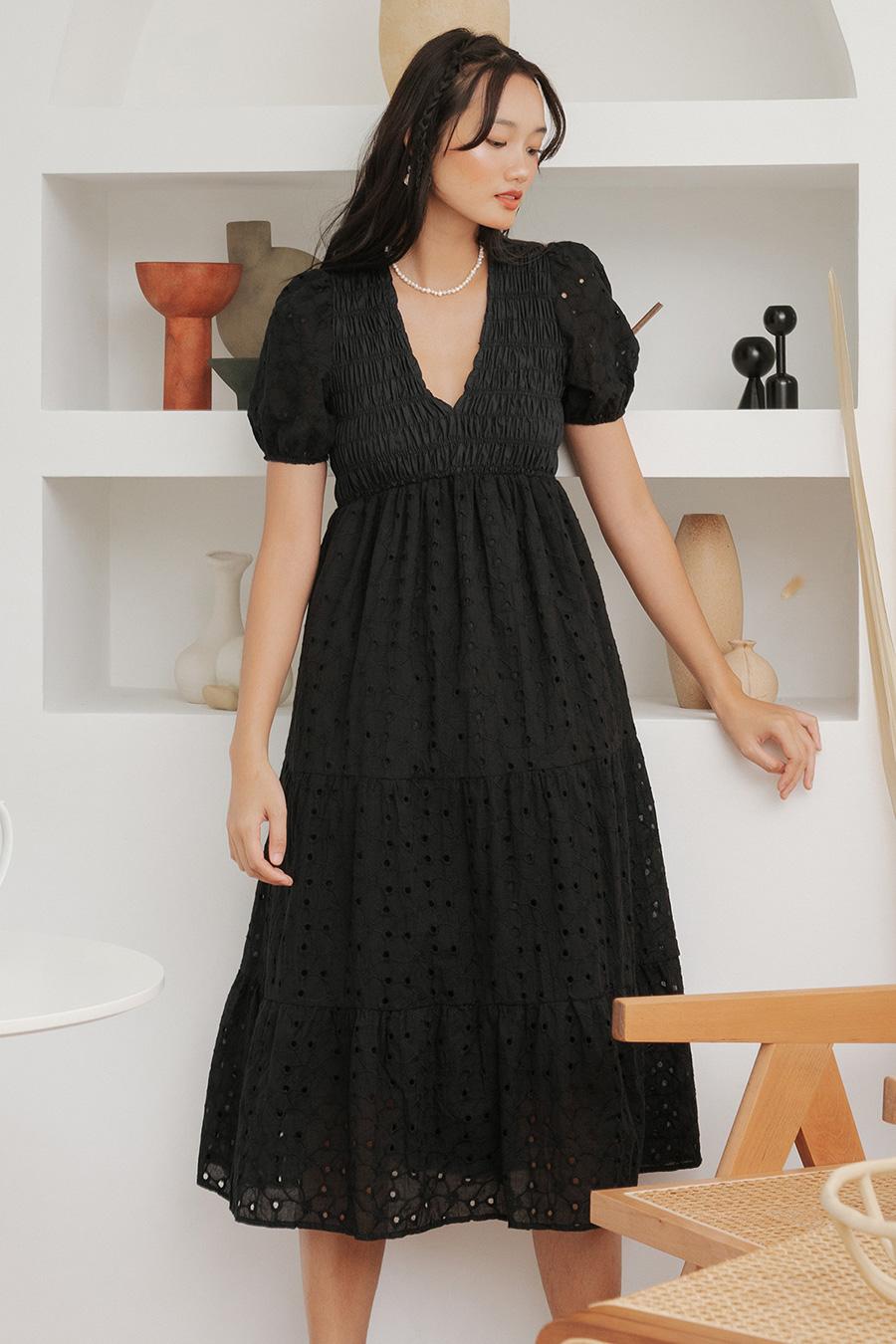 WHEATON DRESS - NOIR