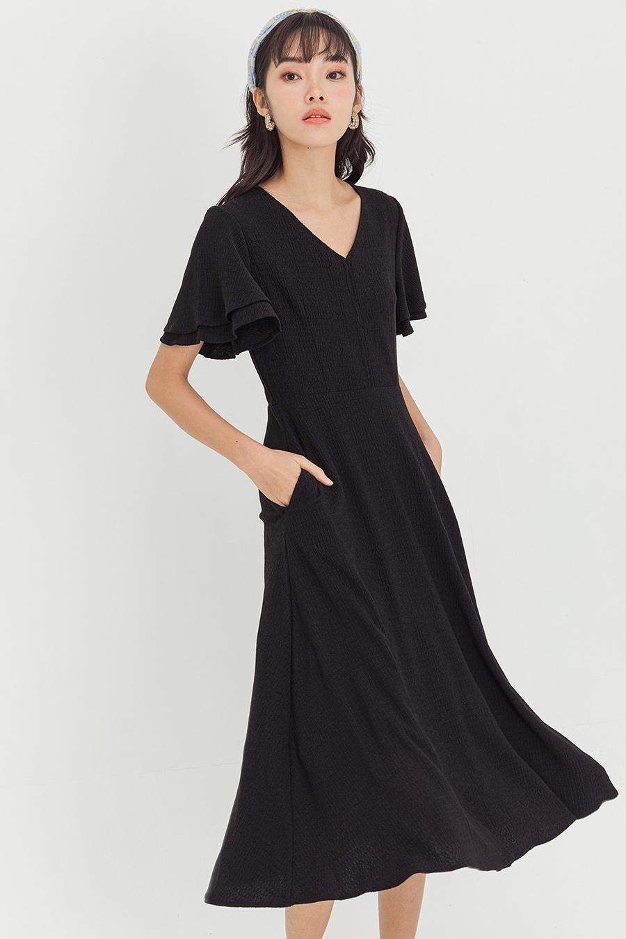YSABEL DRESS - NOIR [BY MODPARADE]